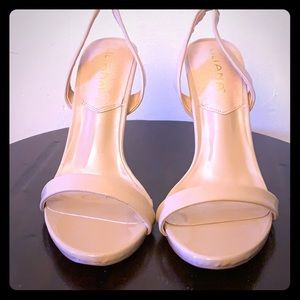 Liliana Nude Patent PU Heeled Sandals Size 10